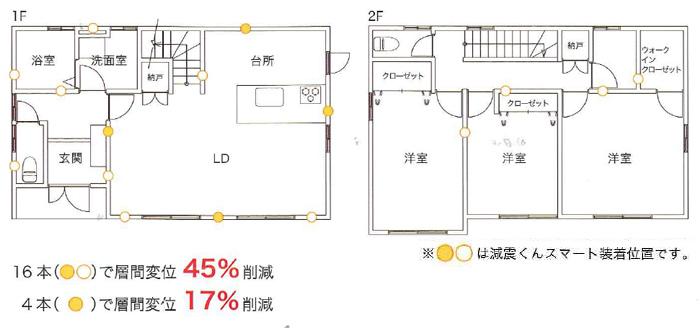 制震工法の家